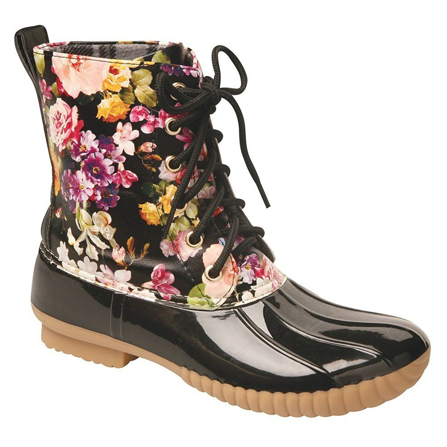64e2edc4c Women's Rosetta Floral Mid-Calf Duck Rain Boots ** See this awesome image : Rain  boots