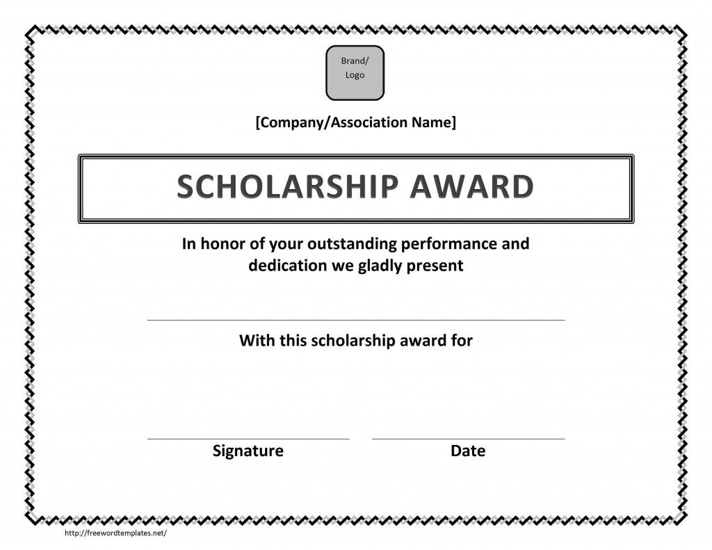 Scholarship award certificate template scholarship pinterest scholarship award certificate template xflitez Image collections