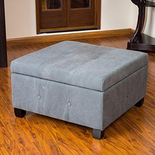Codi Grey Fabric Storage Ottoman Coffee Table | Botones, Puntadas y ...