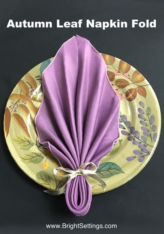 autumn leaf napkin fold bring those fantastic fall colors inside and onto your table easy only 6 steps