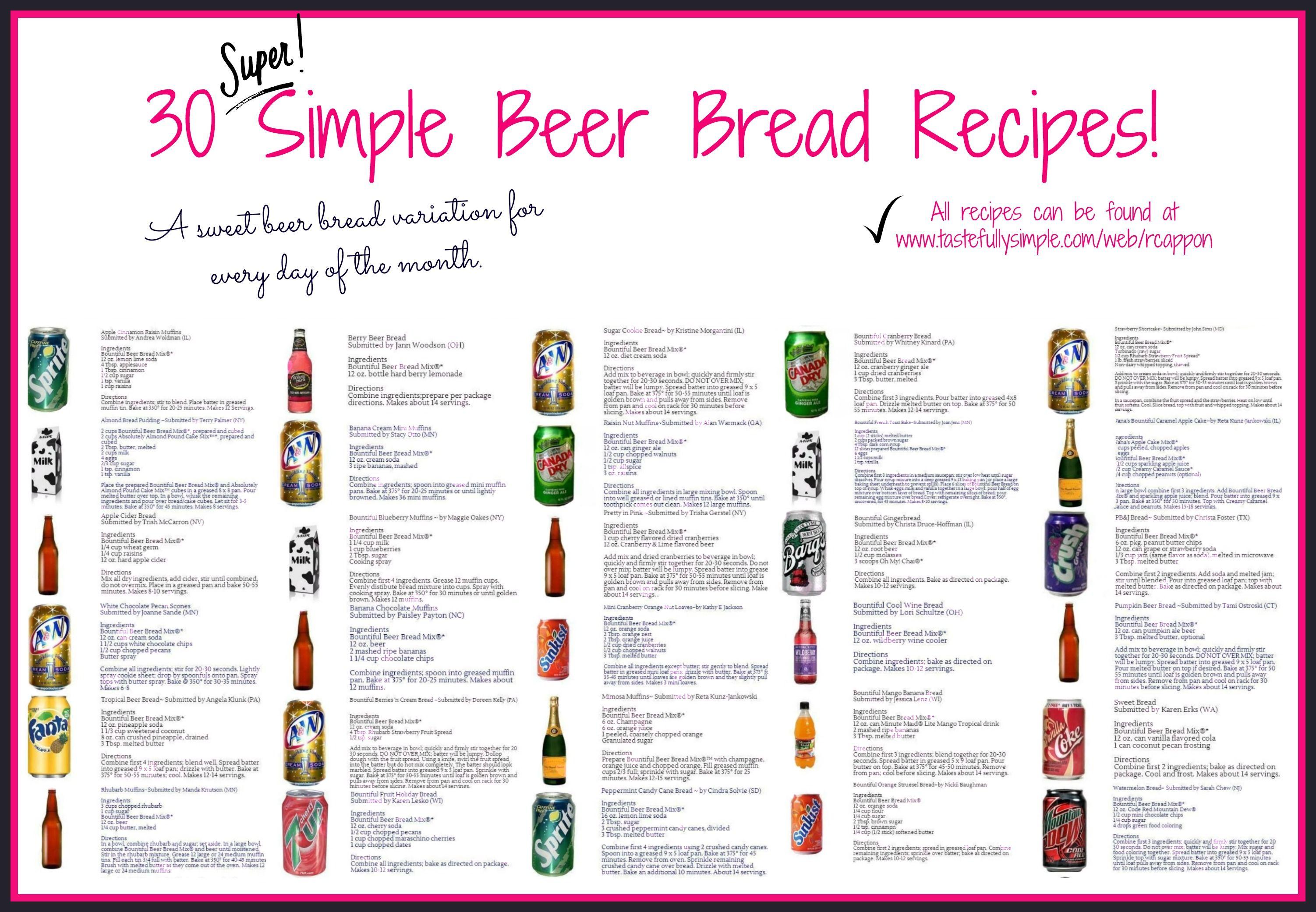 Breads Muffins Tastefully Simple Tastefully Simple Recipes Beer Bread Tastefully Simple Consultant