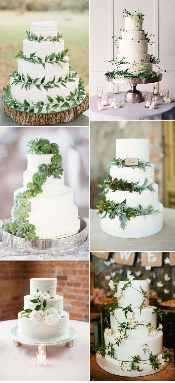 Natural Cake Decorating Ideas : Pantone Color of the Year 2017-Top 50 Greenery Wedding ...