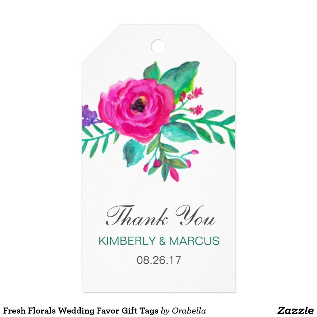 Fresh Florals Wedding Favor Gift Tags | Florals, Favors and Weddings