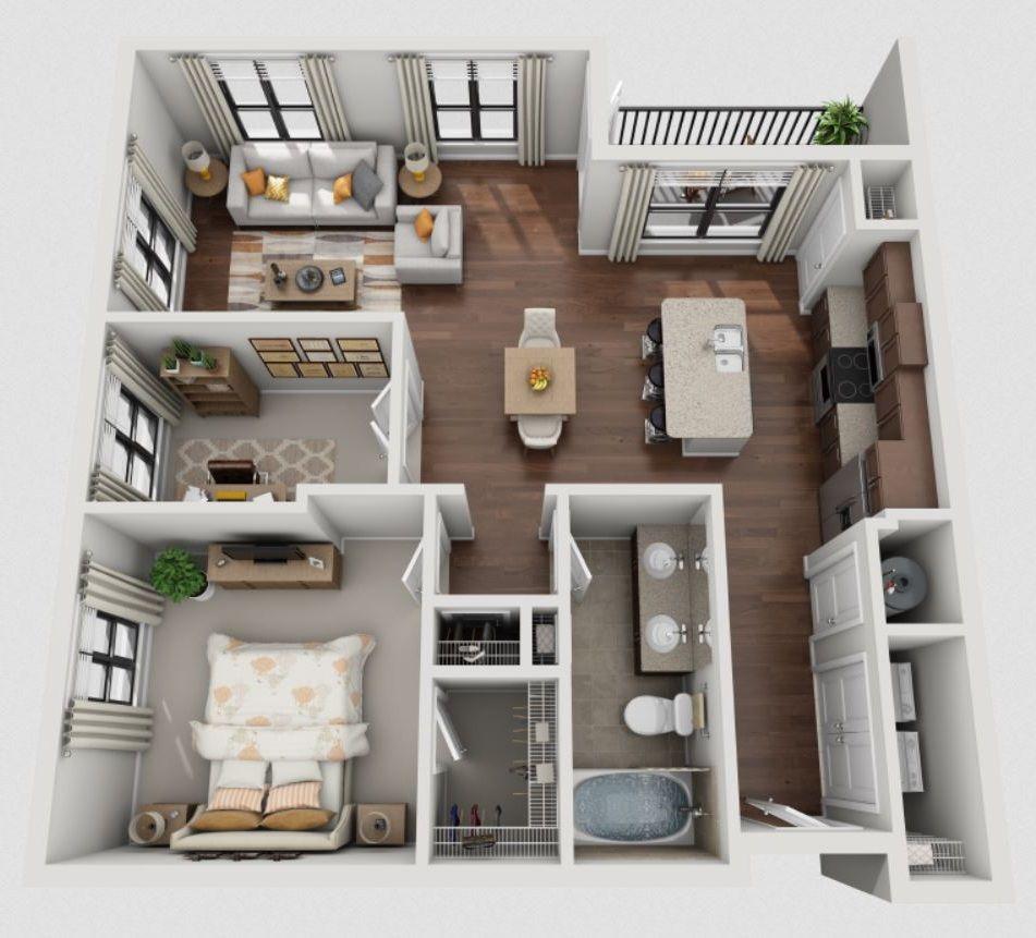 1 dormitorio planos house house plans y home for Casas pequenas modernas interiores