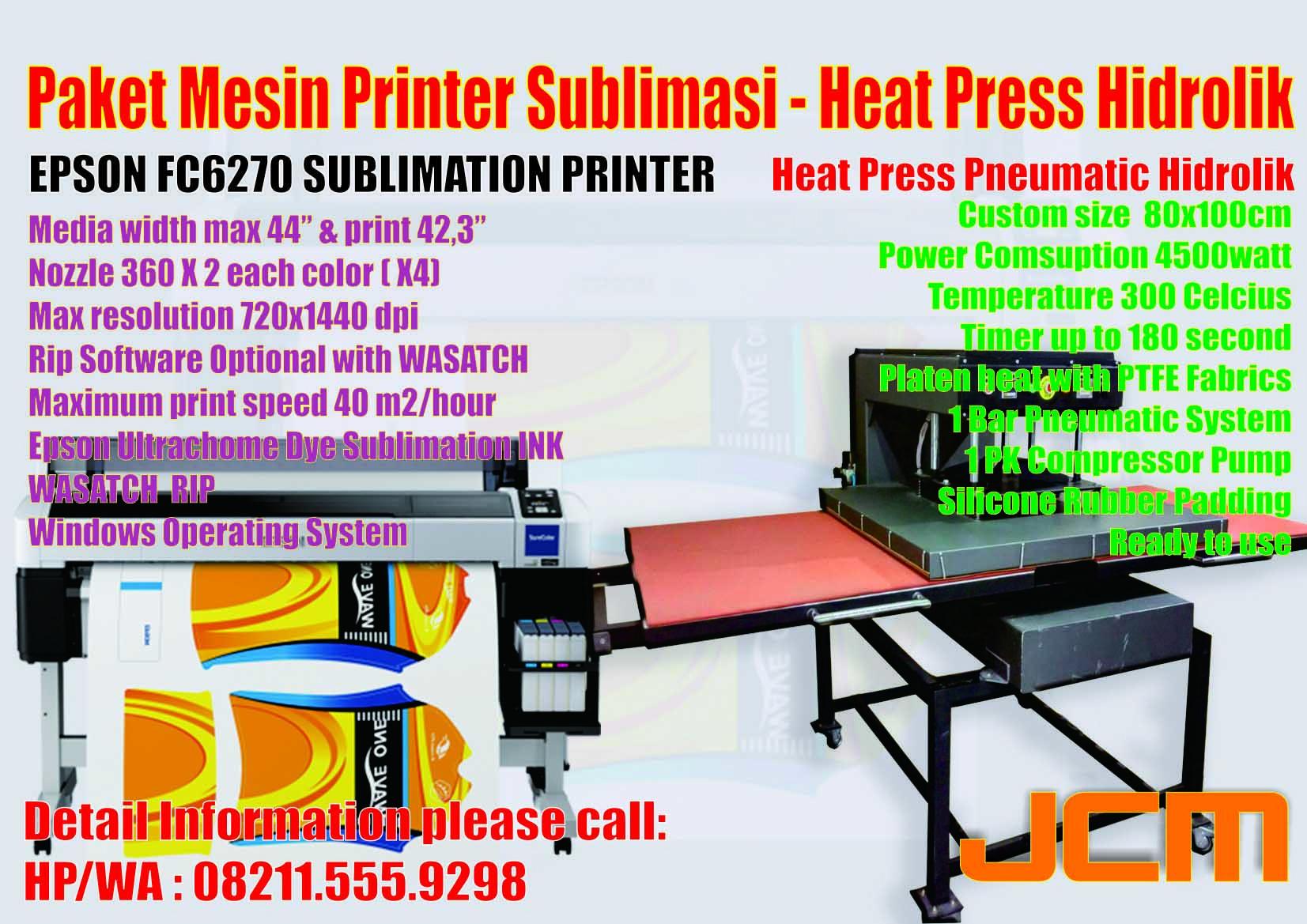 Jual Mesin Printer Harga Sublim Sublime Sublimasi Epson Fc6270 Press Pin Mutoh Rj 900x