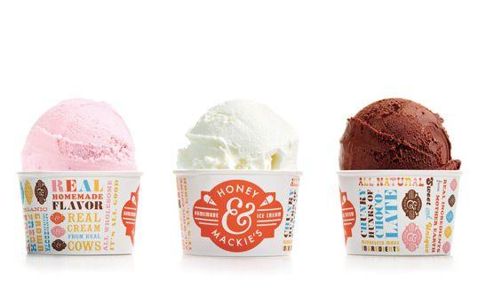 Lovely design for Honey & Mackie's ice cream - by Wink