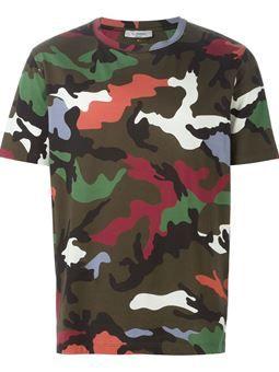 6813cae17 t-shirt à motif camouflage