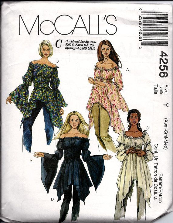 Rare Mccalls Pattern 4256 Gothic Or Boho By Dawnsdesignboutique