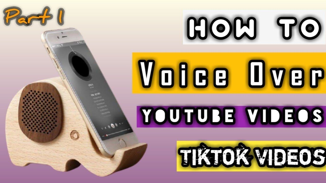 How To Voice Over Youtube Videos Voice Over Sound Tiktok Voice Over Video Editing The Voice Youtube Videos