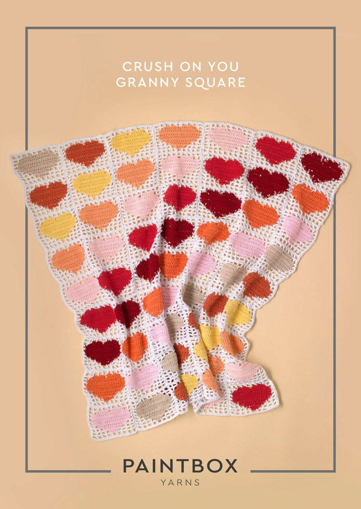 Crush on You Granny Square in Paintbox Yarns Cotton DK ...