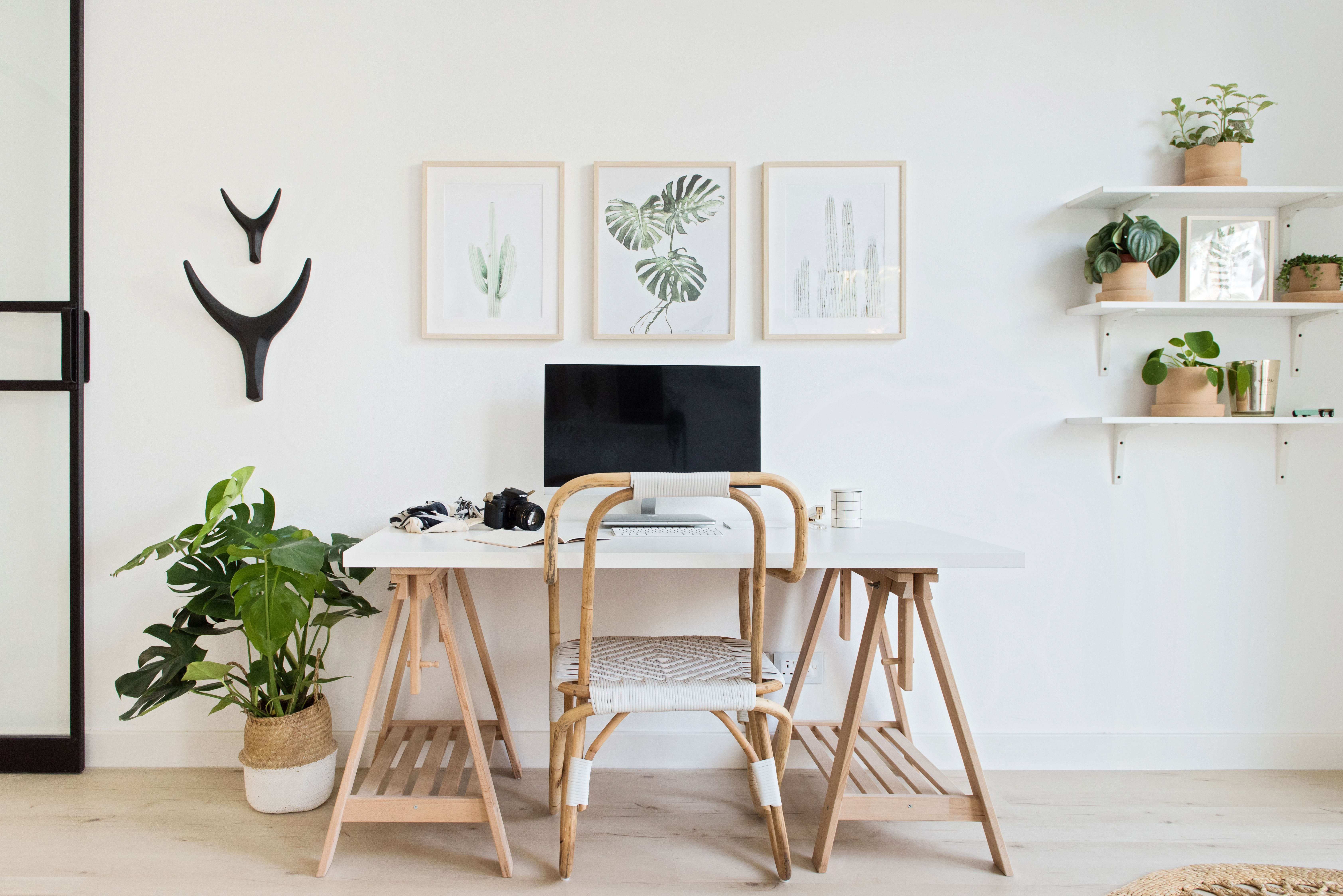Scandi Boho Desk Simple Office Design Scandinavian Design Officegoals Workspacegoals Deskgoals Homeoffice Work Office Decor Home Office Design Home Decor