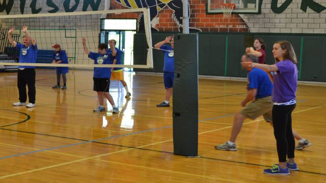 Jmu Volleyball Volunteers With Special Olympics Festival Special Olympics Olympics James Madison University