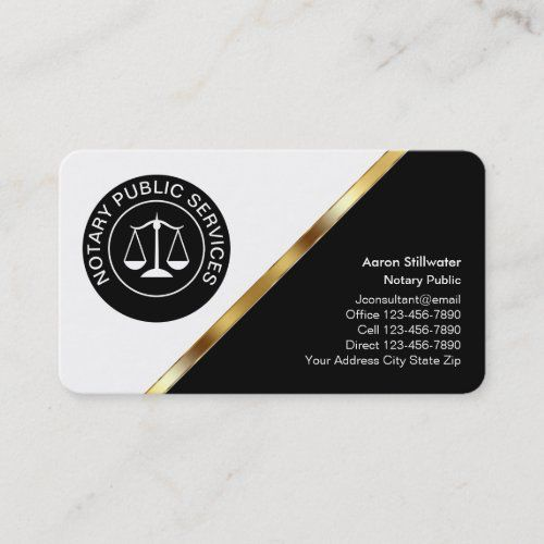 Classy Notary Business Cards Zazzle Com In 2021 Business Card Design Simple Simple Business Cards Lawyer Business Card