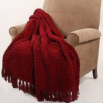 Superb Bnf Home Cable Knitted Polyester Throw Blanket Burgundy Bralicious Painted Fabric Chair Ideas Braliciousco