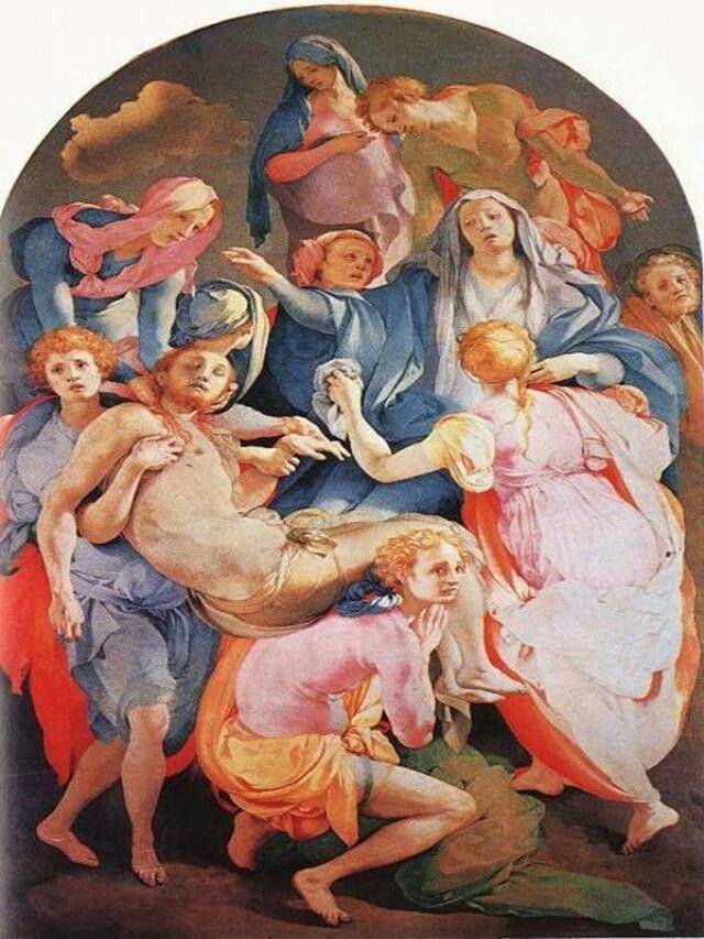 El Descendimiento De La Cruz Pontormo Pinturas Renacentistas Producción Artística Arte Renacentista