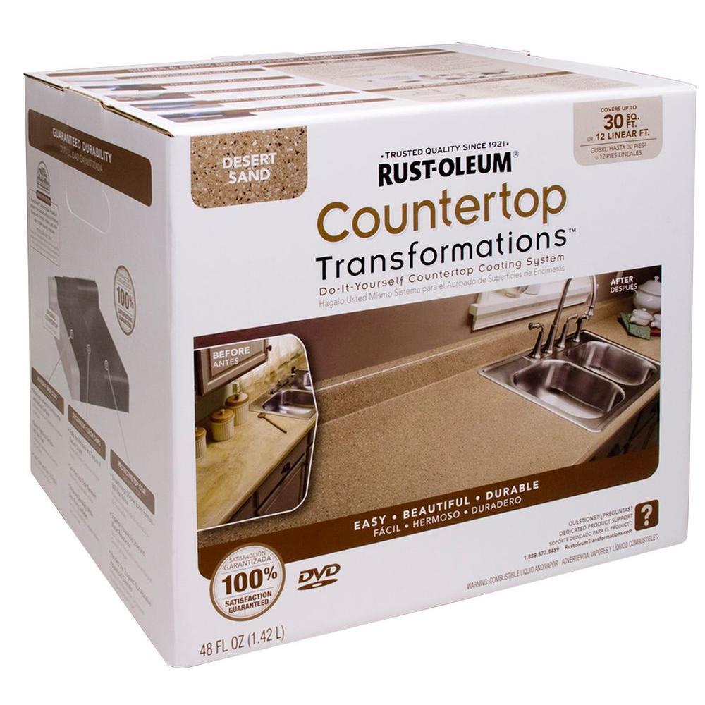 Rust Oleum Transformations 48 Oz Desert Sand Small Countertop Kit