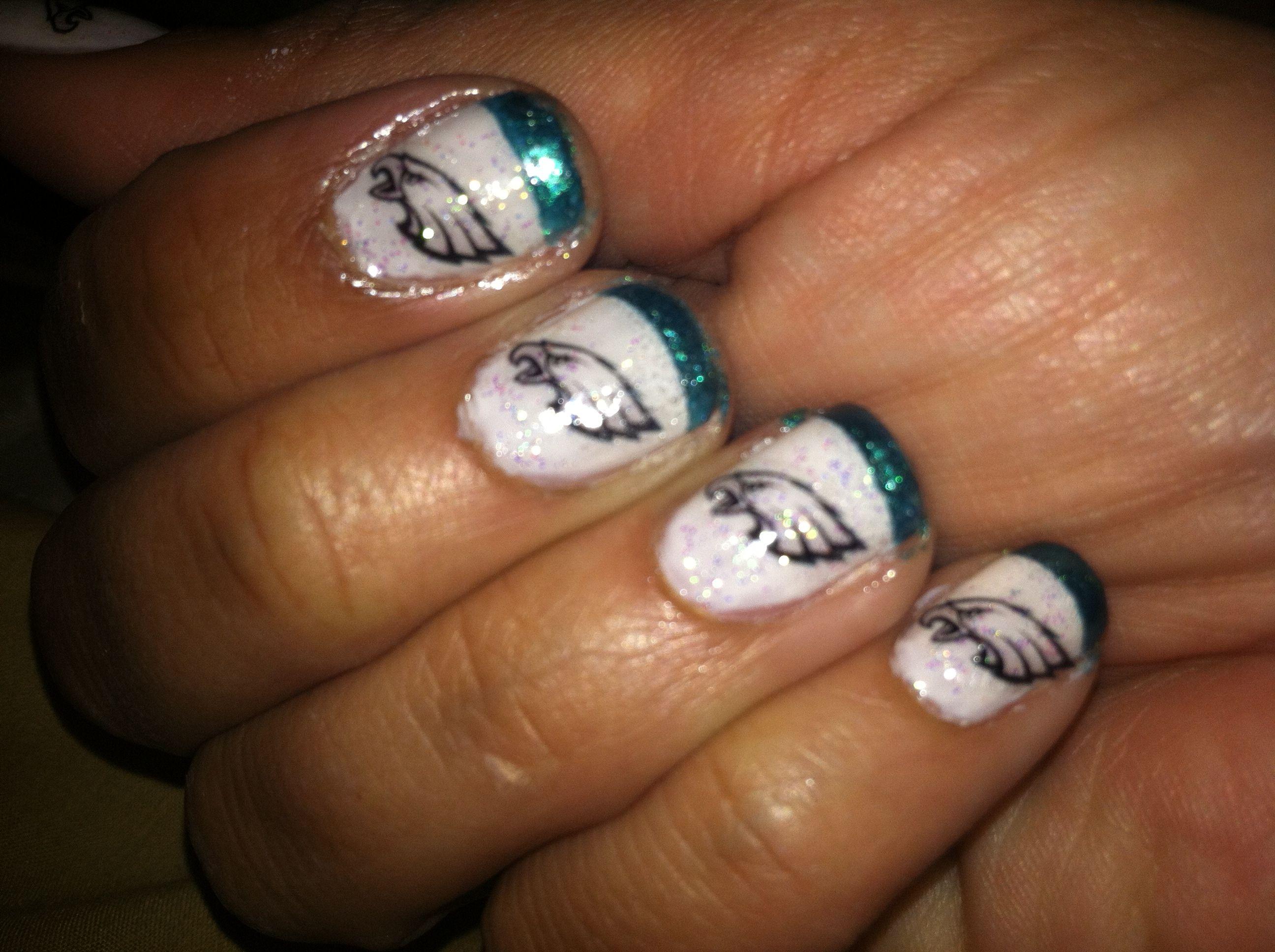 philadelphia eagles hair makeup nails