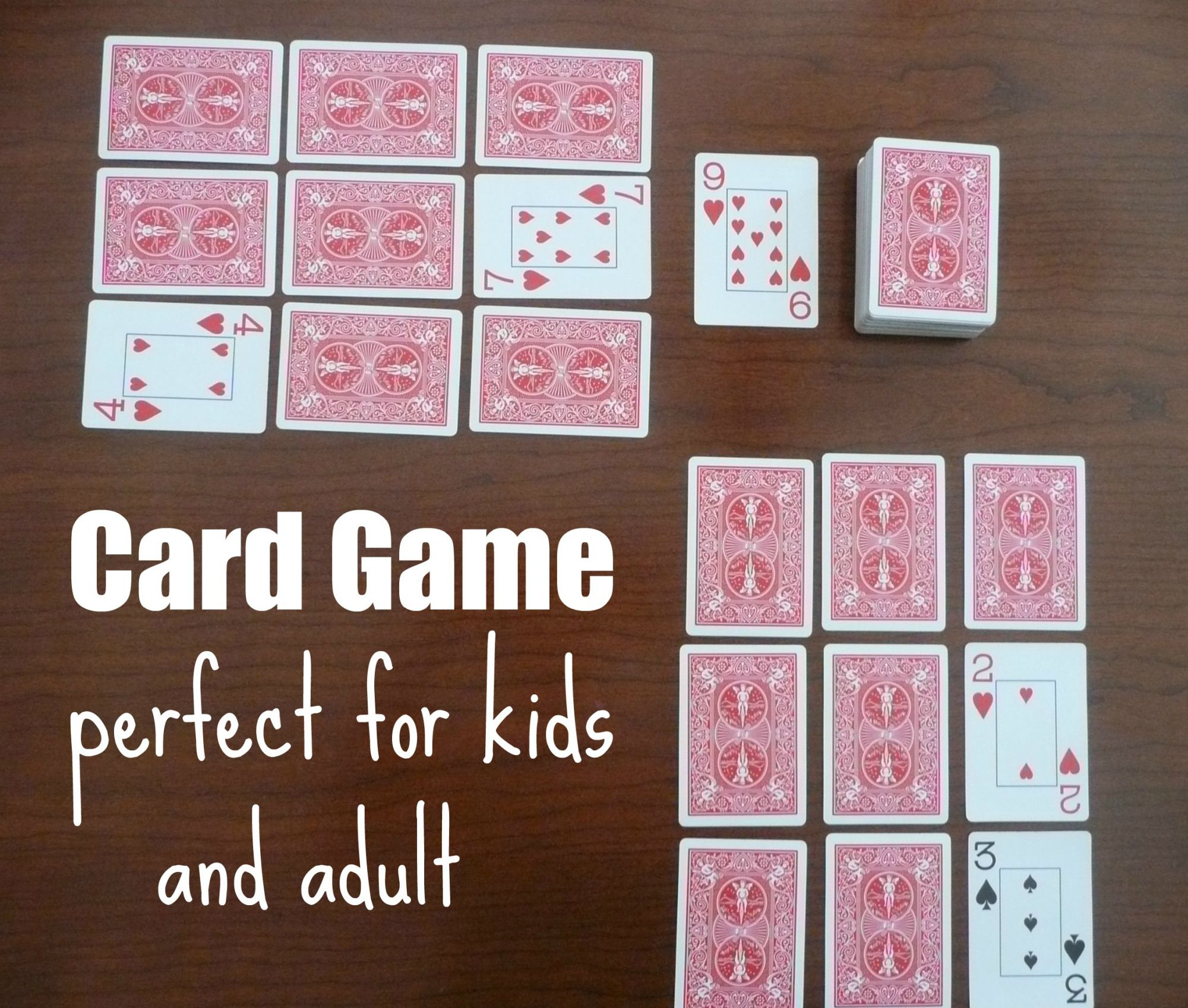 Golf Card Game Rules with Printable Card games for kids