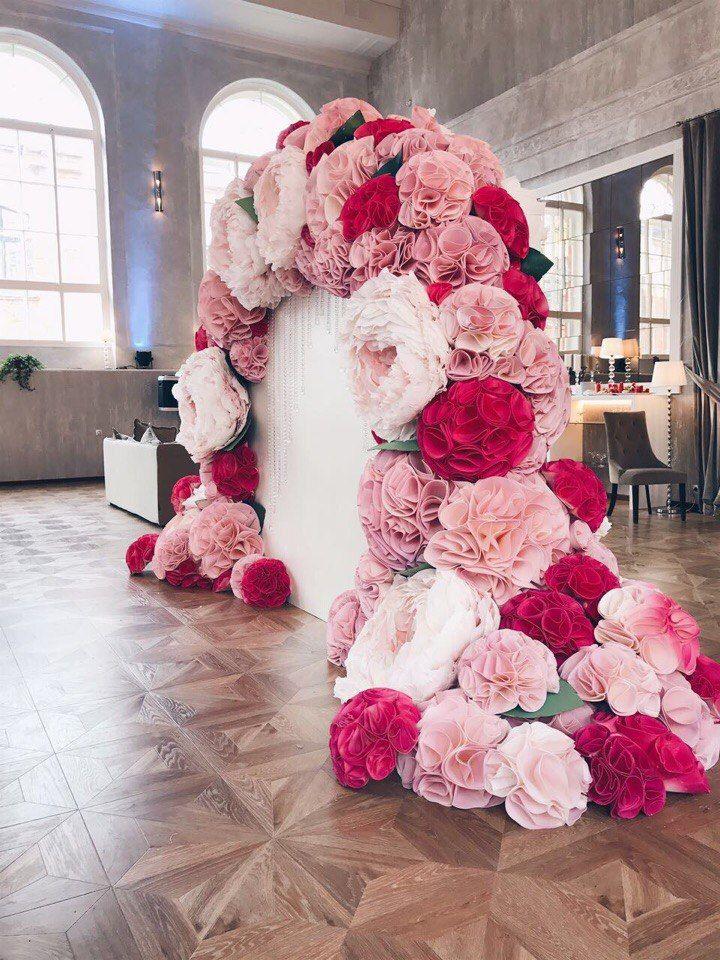 стена из цветов для фотосессии своими руками одном