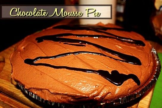Chocolate Mousse Pie http://www.momspantrykitchen.com/chocolate-mousse-pie.html