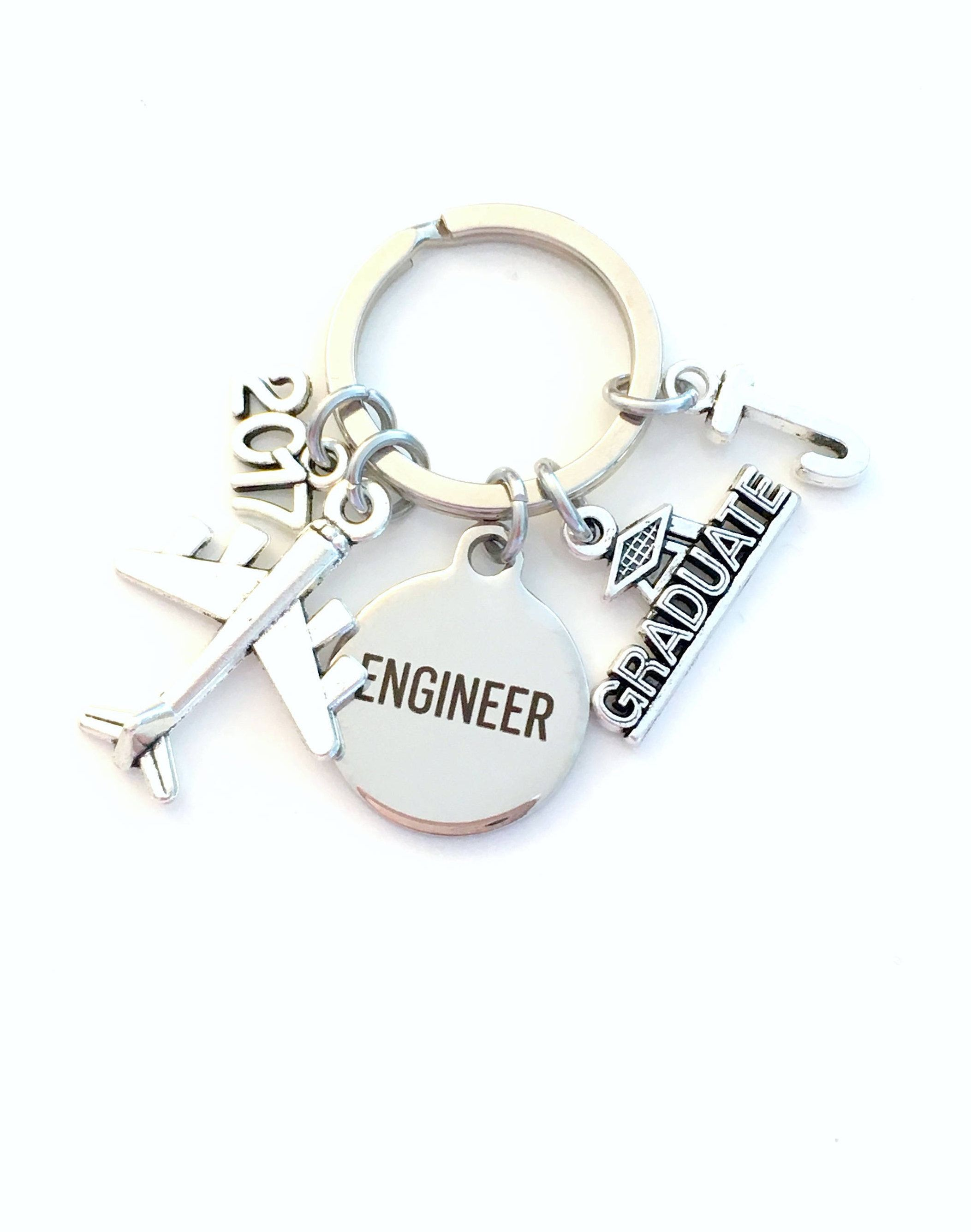 Graduation Gift for Aircraft Engineer Keychain 18a94a811