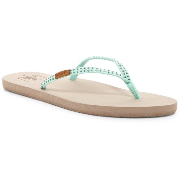 4329e6eda83a Reef Slim Ginger Studded Flip Flop (Women) ( 22) ❤ liked on Polyvore  featuring shoes