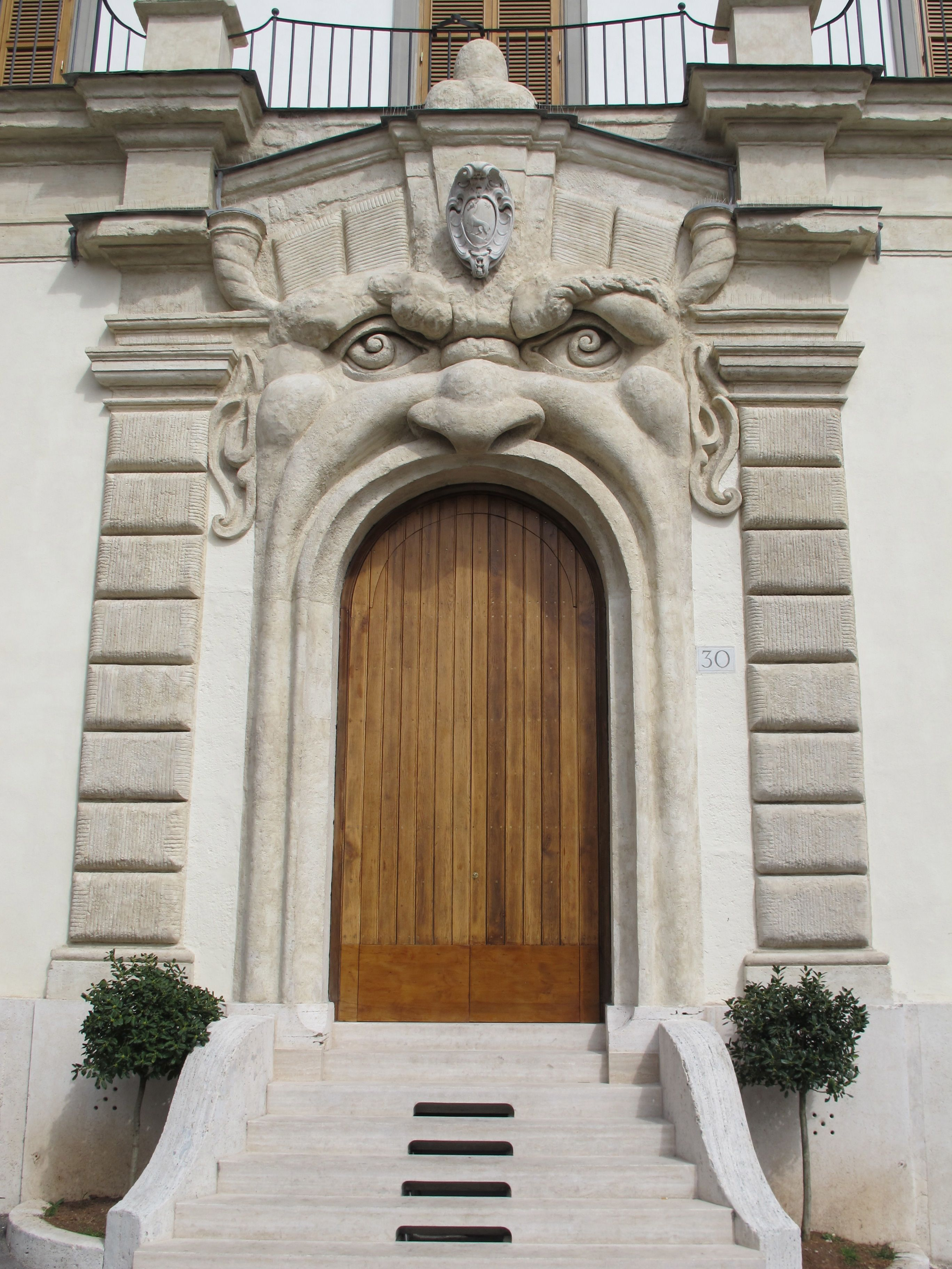 Rome - This is Palazzetto Zuccari, also known as Casa dei Mostri (House of the Monsters). door