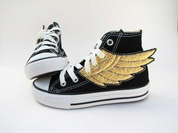 Superhero Shoes- Gold Wings.