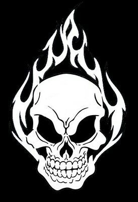 high detail airbrush stencil skulls and flames  FREE UK POSTAGE