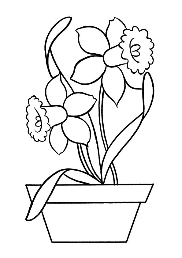 Click Share This Story On Facebook Easy Coloring Pages Flower Coloring Pages Spring Coloring Pages