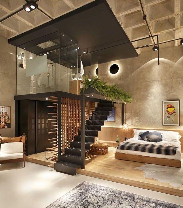 Modern studio mezzanine | Modern interiors | Pinterest | Mezzanine ...
