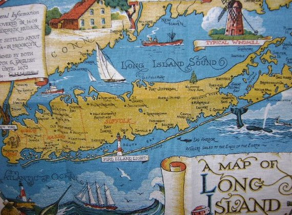 16x24 1933 Long Island NY Classic Pictorial Historic Map