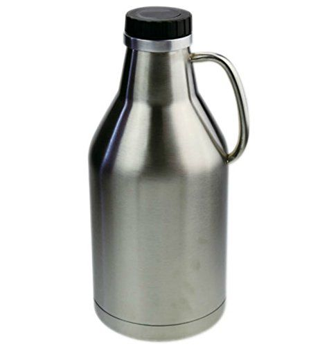 Barnster Double Walled Insulated Stainless Steel Jug One Half Gallon 64 Oz Click Image To Review Mo Fancy Water Bottles Stainless Steel Growler Water Bottle
