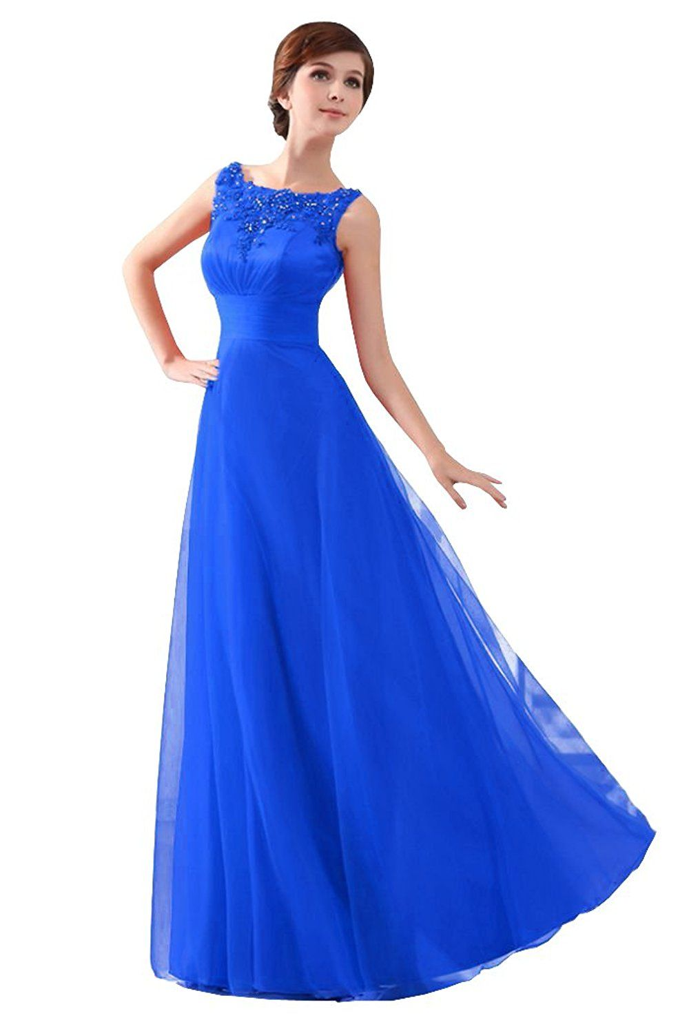 Beautyemily womens long formal evening dresses appliques party