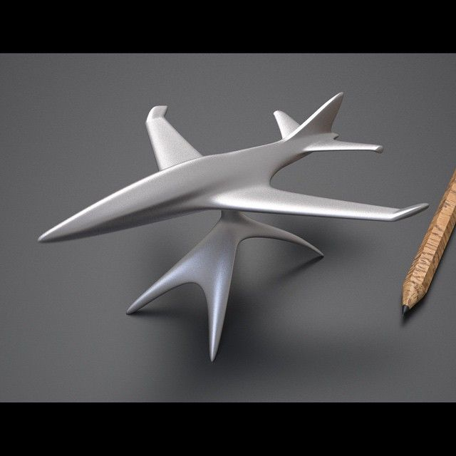 Sculptural 3D printed desk model - MPV design - available in different finishes now from Shapeways - search for MPV Desk Jet 01 #gift #jet #sculpture #paperweight #3Dprinting #3Dmodelling #Shapeways #avgeek #avporn #aviationart #planes #planegeek #planeporn #planelover #trinket #executivetoy #pilotlife #design #pilotgift #aviator #design_syndicate