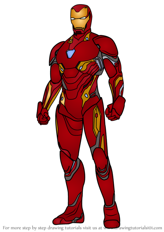 Learn How To Draw Iron Man From Avengers Infinity War Avengers Infinity War Step By Step Drawing Tutorials Iron Man Iron Man Drawing Iron Man Art