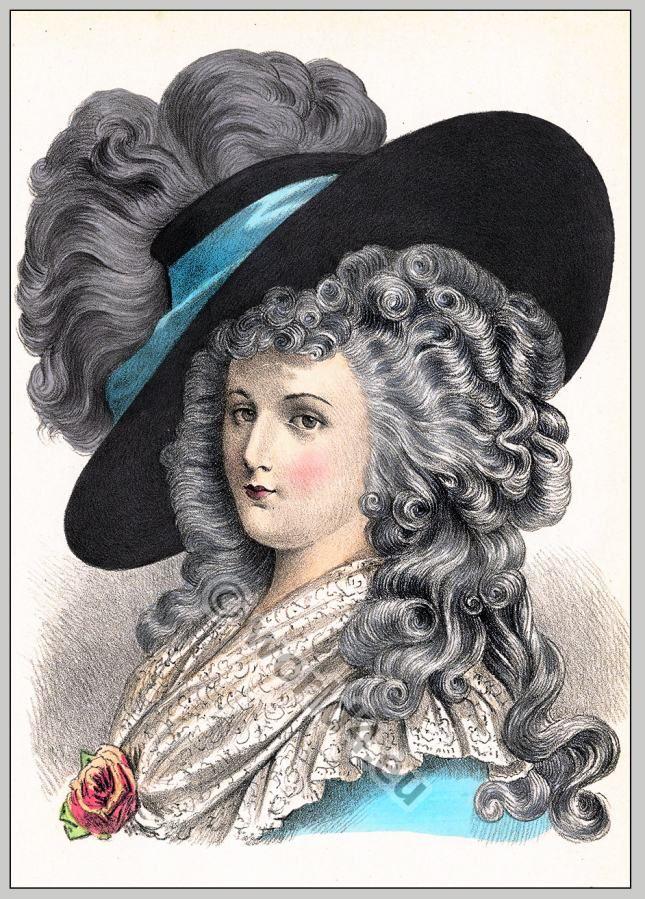 Baroque period 17th century. Coiffure Louis XIV Baroque