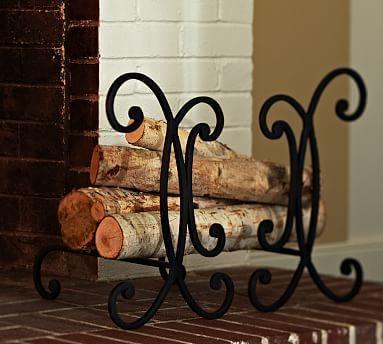 Aspen Fireplace Andiron #potterybarn