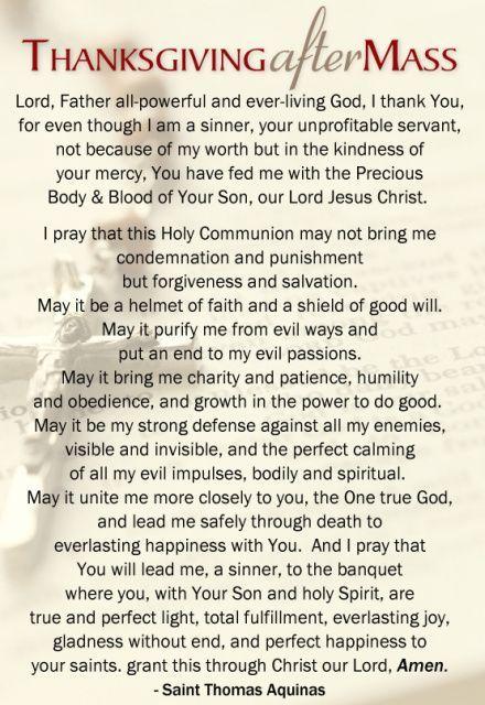 Thanksgiving After Mass Pray I Have Long Loved This Prayer Catholic Prayers Faith Prayer Catholic Quotes