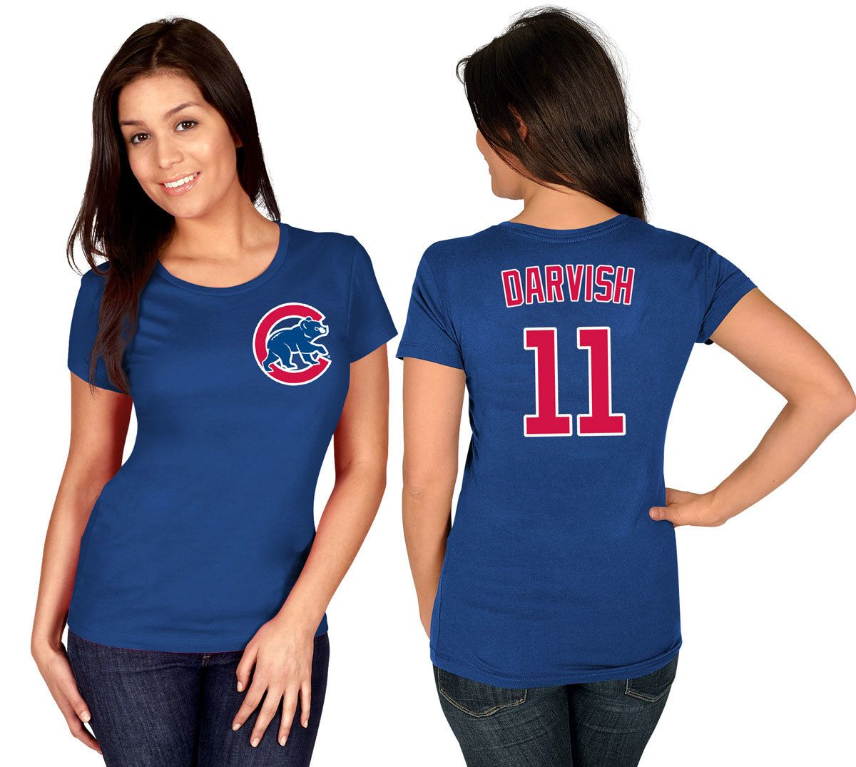newest 4828e d3013 Yu Darvish Chicago Cubs Royal Women's T-Shirt by Majestic ...