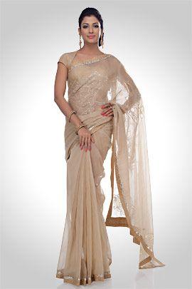 nude  saree traditional