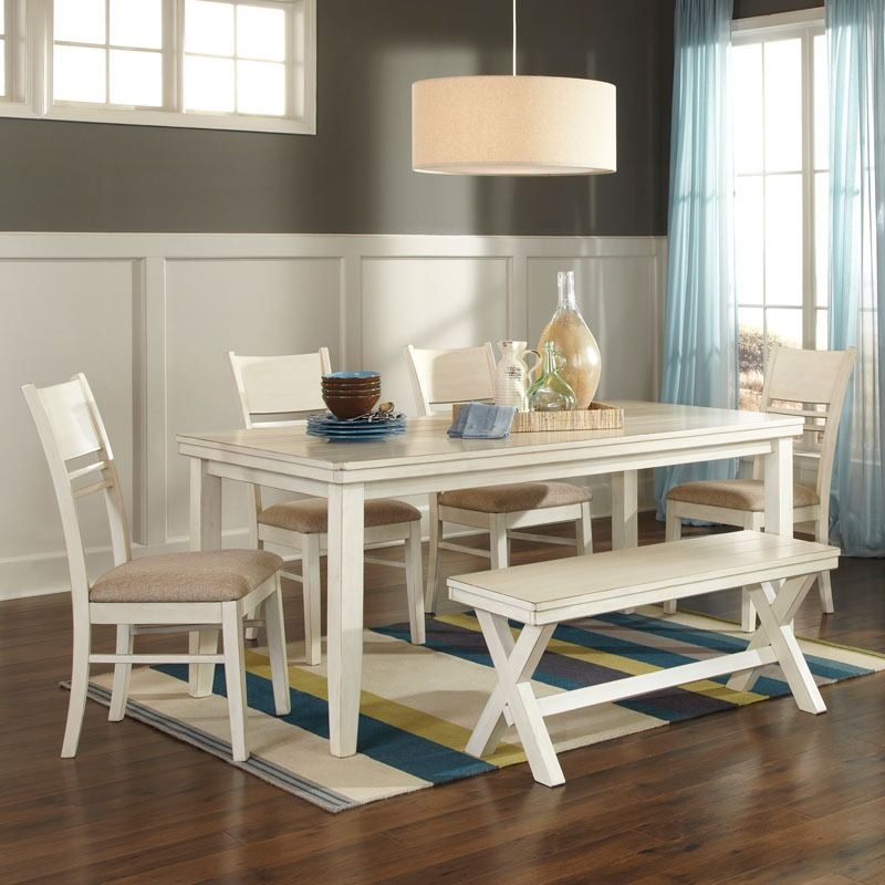 This Dining Set Is Farmhouse Chic Also Available In 7 Piece Set
