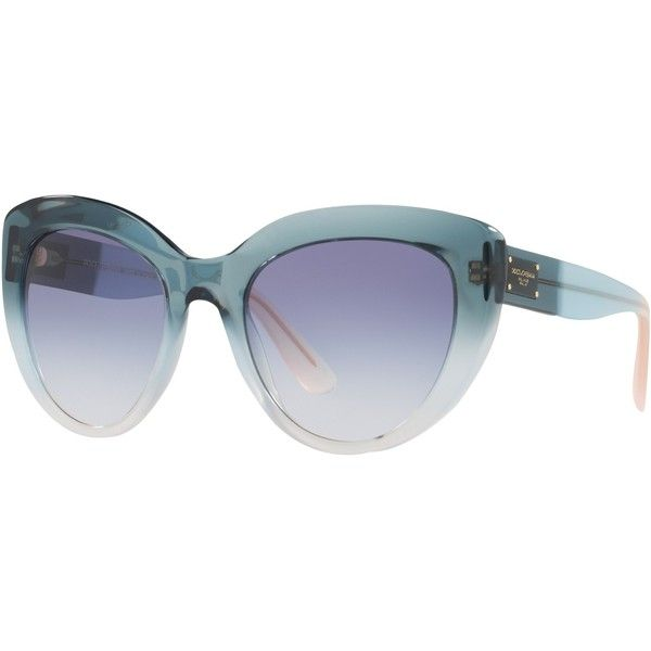 Dolce   Gabbana DG4287 Cat s Eye Sunglasses, Blue Gradient (730 BRL) ❤ liked e8e048121e