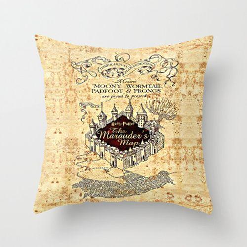 Harry Potter Marauders Map Decorative Cushion Pillow Case