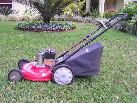 Solar Charged Electric Lawn Mower Lawn Mower Energy Projects Gas Lawn Mower