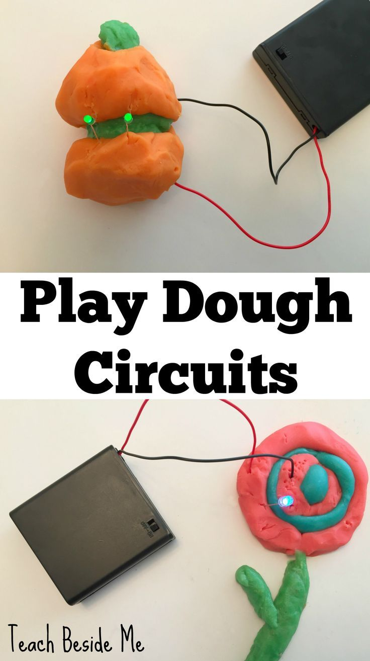 easy play dough circuits science and stem projects pinterest rh pinterest com