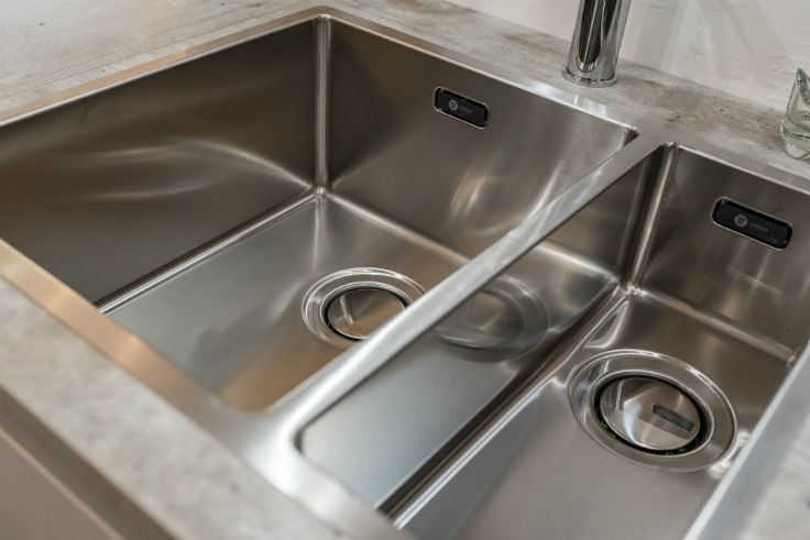 Stunning Inset Carron Pheonix Deca Sink In A Handleless Gola Kitchen At  Newhaven Kitchens Carlow.