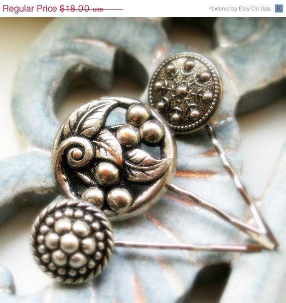CHRISTMAS SALE Cherry  Silver vintage jewel by Hope3raJewels, $17.10