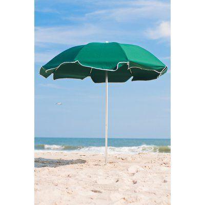 Frankford Umbrella Avalon Collection 7.5 ft. Commercial Fiberglass Beach Umbrella with Aluminum Pole Terra Cotta - 844FAP-TRA02