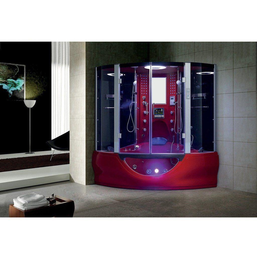 Flash Sale Maya Bath Valencia Computerized Steam Shower 109 Red Bathcollective Com Shower Massage Steam Shower Enclosure Steam Showers